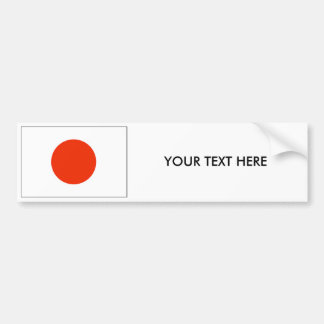 Autocollant De Voiture Adhésif pour pare-chocs de DRAPEAU du JAPON