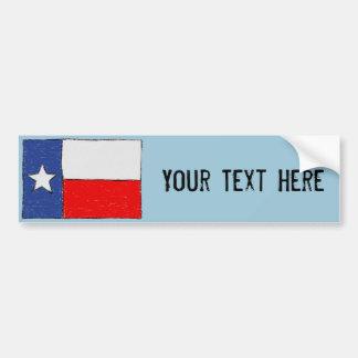 Autocollant De Voiture Adhésif pour pare-chocs de drapeau du Texas