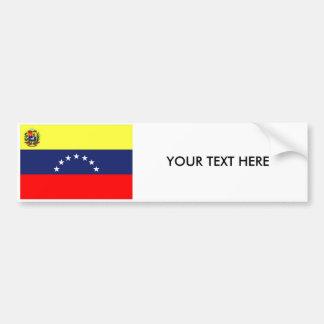 Autocollant De Voiture Adhésif pour pare-chocs de DRAPEAU du VENEZUELA