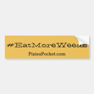 Autocollant De Voiture adhésif pour pare-chocs de #eatmoreweeds