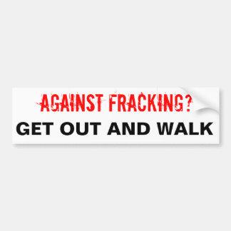Autocollant De Voiture Adhésif pour pare-chocs de Fracking, blanc