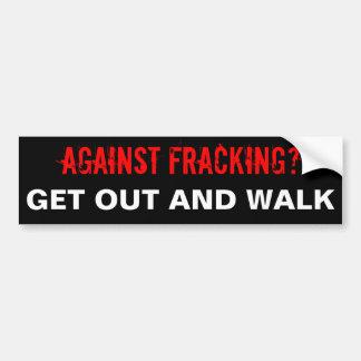 Autocollant De Voiture Adhésif pour pare-chocs de Fracking, noir