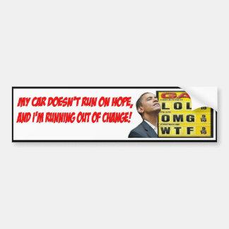 Autocollant De Voiture Adhésif pour pare-chocs de gaz d'Obama