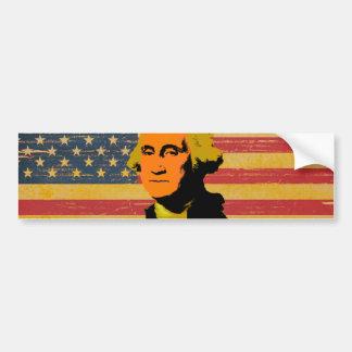 Autocollant De Voiture Adhésif pour pare-chocs de George Washington de