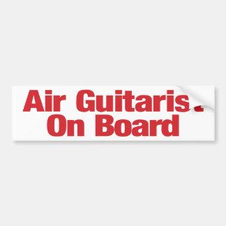 Autocollant De Voiture Adhésif pour pare-chocs de guitariste d'air à bord