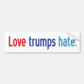 Autocollant De Voiture Adhésif pour pare-chocs de haine d'atouts d'amour