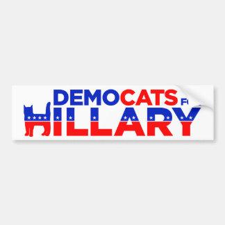 """Autocollant De Voiture Adhésif pour pare-chocs de Hillary 2016 """"Democats"""