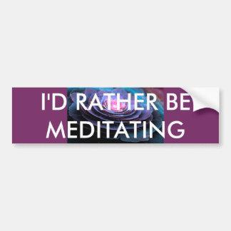Autocollant De Voiture Adhésif pour pare-chocs de méditation