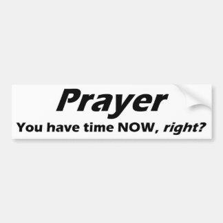 Autocollant De Voiture Adhésif pour pare-chocs de prière !