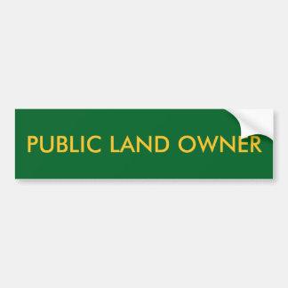 Autocollant De Voiture Adhésif pour pare-chocs de propriétaire de terrain