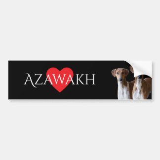 Autocollant De Voiture Adhésif pour pare-chocs de race d'Azawakh