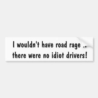 Autocollant De Voiture Adhésif pour pare-chocs de rage d'Anti-Route