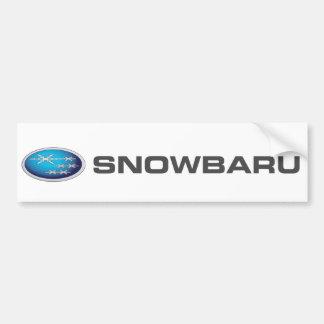 Autocollant De Voiture Adhésif pour pare-chocs de Snowbaru (gradient
