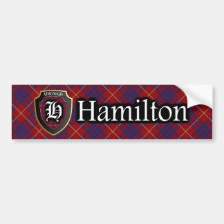 Autocollant De Voiture Adhésif pour pare-chocs de tartan de Hamilton de
