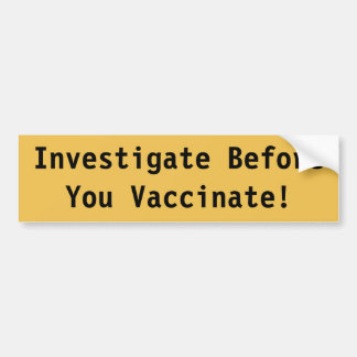 Autocollant De Voiture Adhésif pour pare-chocs de vaccination