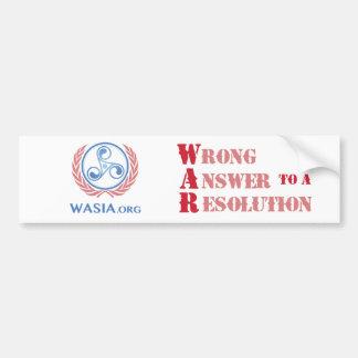 Autocollant De Voiture Adhésif pour pare-chocs de WASIA (blanc)