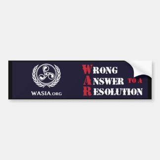 Autocollant De Voiture Adhésif pour pare-chocs de WASIA (noir)