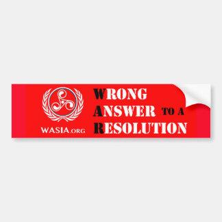 Autocollant De Voiture Adhésif pour pare-chocs de WASIA (rouge)