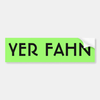Autocollant De Voiture Adhésif pour pare-chocs de YER FAHN - CHAUX