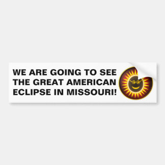 Autocollant De Voiture Adhésif pour pare-chocs d'éclipse du Missouri