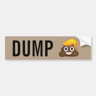 Autocollant De Voiture Adhésif pour pare-chocs d'Emoji de dunette d'atout