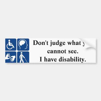 Autocollant De Voiture Adhésif pour pare-chocs d'handicap