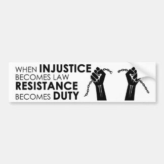 Autocollant De Voiture Adhésif pour pare-chocs d'injustice