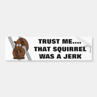 Autocollant De Voiture Adhésif pour pare-chocs drôle d'écureuil