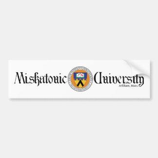 Autocollant De Voiture Adhésif pour pare-chocs d'université de Miskatonic