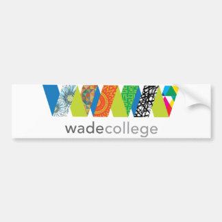 Autocollant De Voiture Adhésif pour pare-chocs d'université de Wade