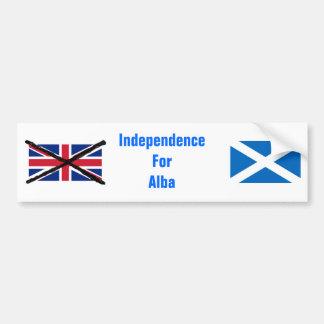 Autocollant De Voiture Adhésif pour pare-chocs écossais de l'indépendance
