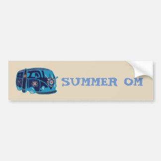 Autocollant De Voiture Adhésif pour pare-chocs hippie de l'OM Van d'été