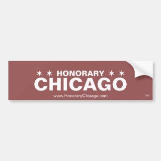 Autocollant De Voiture Adhésif pour pare-chocs honorifique de Chicago