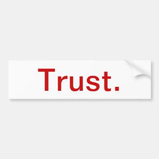 Autocollant De Voiture Adhésif pour pare-chocs inspiré - confiance