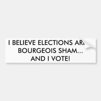 Autocollant De Voiture Adhésif pour pare-chocs marxiste d'électeur