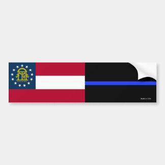 Autocollant De Voiture Adhésif pour pare-chocs mince de la Géorgie Blue