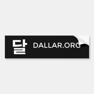 Autocollant De Voiture Adhésif pour pare-chocs noir de logo de Dallar