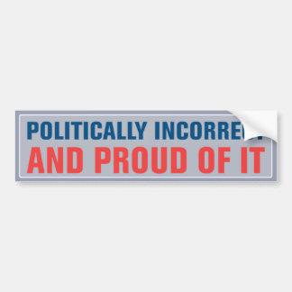 Autocollant De Voiture Adhésif pour pare-chocs politiquement incorrect