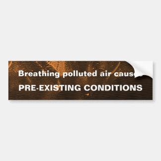 Autocollant De Voiture Adhésif pour pare-chocs pollué d'air