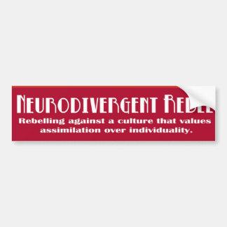 Autocollant De Voiture Adhésif pour pare-chocs rebelle de Neurodivergent