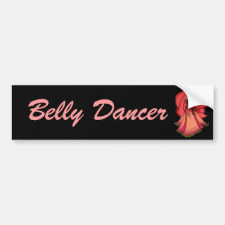 Autocollant De Voiture Adhésif pour pare-chocs rose de danseuse du ventre