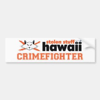 Autocollant De Voiture Adhésif pour pare-chocs volé d'Hawaï Crimefighter