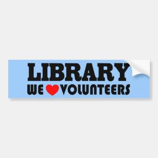 Autocollant De Voiture Adhésif pour pare-chocs volontaire de bibliothèque
