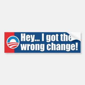 Autocollant De Voiture Adhésifs pour pare-chocs d'Anti-Obama