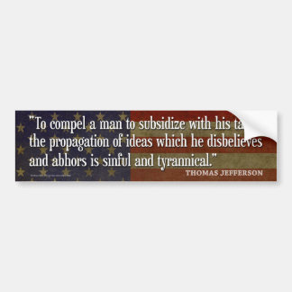 Autocollant De Voiture Adhésifs pour pare-chocs de Thomas Jefferson