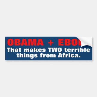 Autocollant De Voiture Adhésifs pour pare-chocs d'Obama Ebola