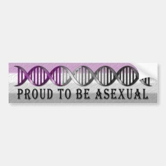 Autocollant De Voiture ADN asexuelle de fierté