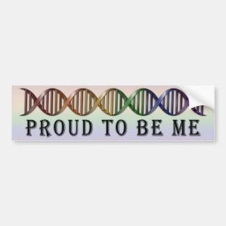 Autocollant De Voiture ADN d'arc-en-ciel de fierté de LGBT