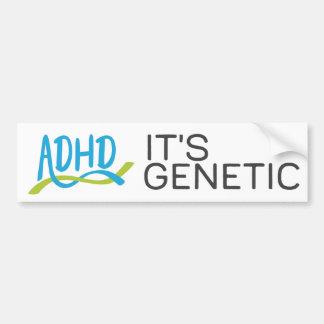 Autocollant De Voiture ADN de TDAH - Elle est génétique