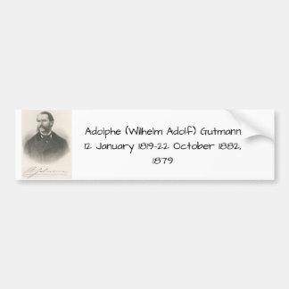 Autocollant De Voiture Adolphe (Wilhelm Adolf) Gutmann